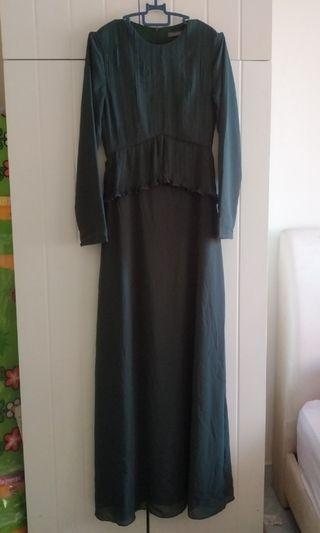 preloved poplook peplum dress