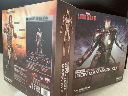 Play imaginative PI Iron Man Mark 42 mk42 XLII Super Alloy 1:12