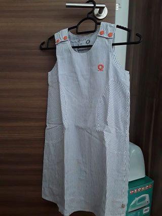 A stripe Basic denim dress (size 128)
