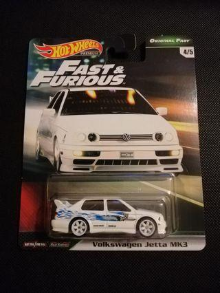 Hot Wheels Volkswagen Jetta Fast & Furious Premium Wave 2