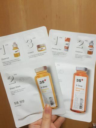 Missha 3 step nutrition; whitening mask