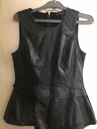 BCBG leather top