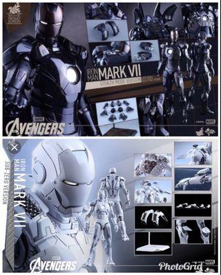 Hottoys mark VII Mk7 黑白 兩隻不散賣 Stealth Mode Sub-zero mms282 mms329 非Chocoolate店面版本 1:6 潛行 極地 極新