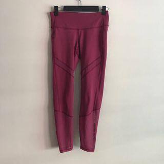 Old Navy Active Plum Color w/ Meshed Detail Tights (mid rise)