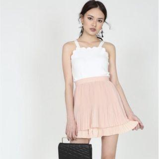 🚚 MDS pleated mini skirt in blush