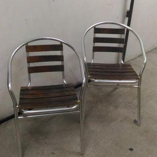 鋁質木椅(二件) CHAIR 2PCS