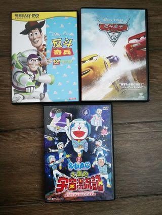 反斗奇兵,反斗車王,多啦 a夢 DVD
