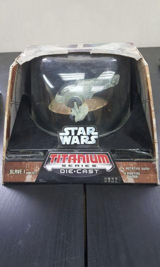 Hasbro Titanium series diecast star wars Slave 1 Boba fett