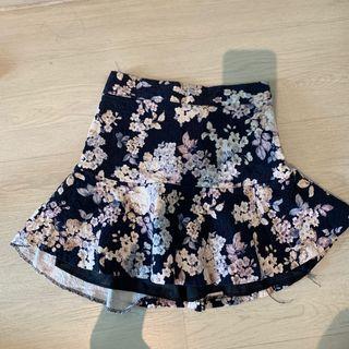 Korean Floral Skater Skirt