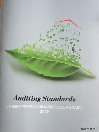 Icaew audit auditing Standards 2019 permitted text