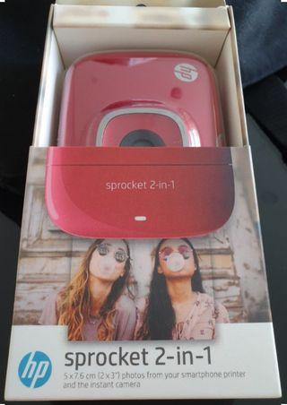 BNIB: HP Sprocket 2 in 1 camera and photo printer