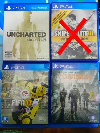 PS4 Games Ps4 game The Division / Uncharted / Fifa 17