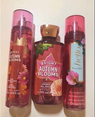 BBW Bright Autumn Blooms Set + Hello Beautiful Fragrance
