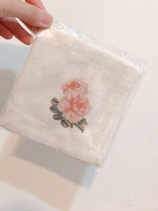 🚚 花卉無染方巾 手帕