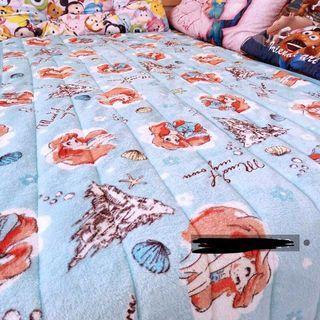 單人床ariel美人魚小魚仙絨毛床墊梳化墊