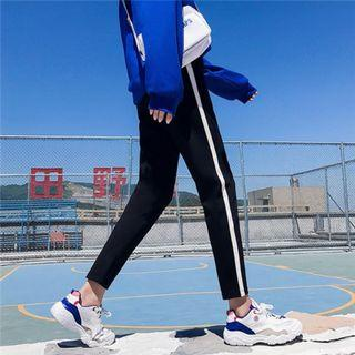 簡約 單線彈性褲