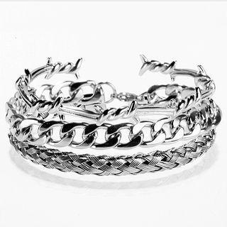 3 Pcs Design Men Trendy Stainless Steel Men Bangle | Bracelet Fashion Jewelry