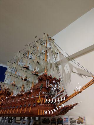 收藏品-積木海盜船(非樂高)
