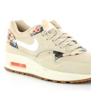 Beige And Neon Floral Nike Air Max