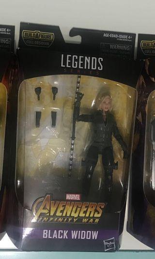 Marvel legends avengers infinity war black widow (no baf)