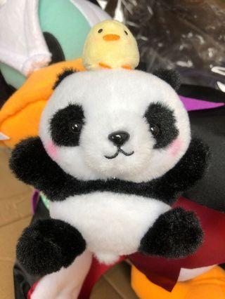 日本正版 熊貓 毛公仔