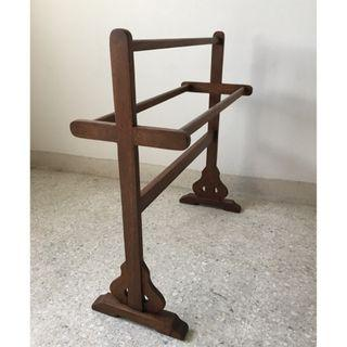 Vintage Solid Wood Towel Rack