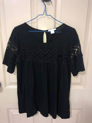 BNWOT H&M Black blouse with see through lace