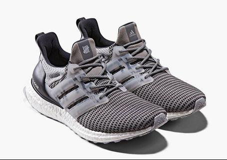 Adidas x Undefeated Ultraboost Grey / Onix