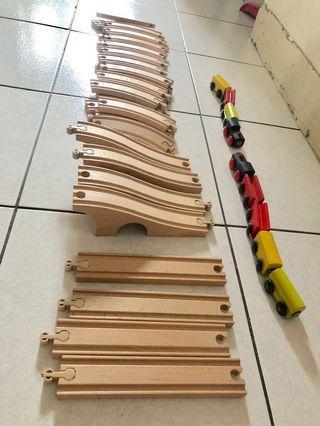 IKEA原木軌道火車積木