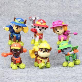 Paw petrol jungle rescue cake topper plastic figurines