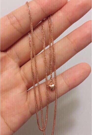 18k玫瑰金蕭邦頸鏈 (重金加粗-約4g)