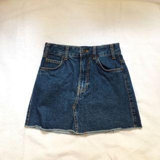 bershka vintage demin skirt