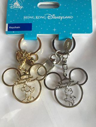 100% New 全新 米奇米妮老鼠 鎖匙扣 Mickey Minnie Mouse Keychain 香港廸士尼樂園 Hong Kong Disneyland
