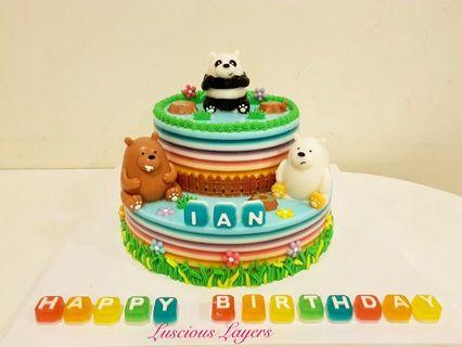We bare bear 2 tiers jelly cake