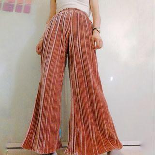 Long flowy velvet pants