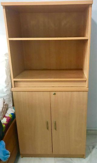 Wooden shelf & cabinet with lock (NOT from IKEA)