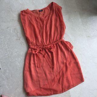 Bardot brown orange dress