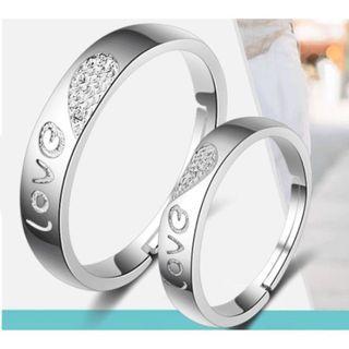 925純銀飾品 防過敏 永恆的愛 LOVE 情侶對戒 開口戒指 指環可調尺寸