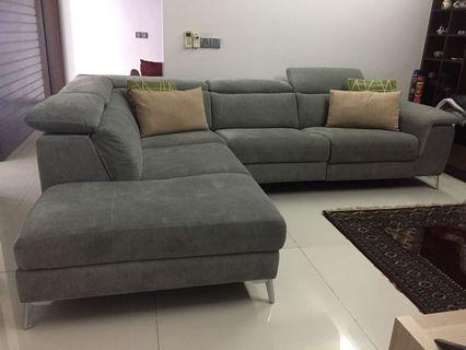 Luxury L Shape Sofa with Electric Recliner #CarouRaya