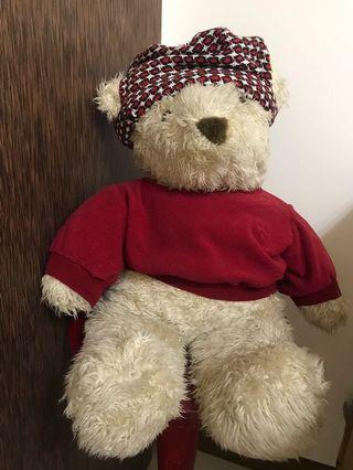 🚚 大型戴帽穿衣泰迪熊