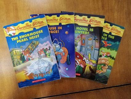 🚚 Geronimo stilton the hotel is haunted, the enormouse pearl heist, mouse in space,...