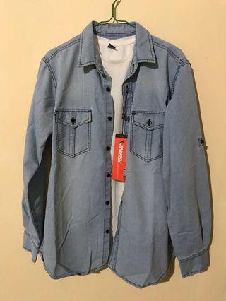 Kemeja jeans biru