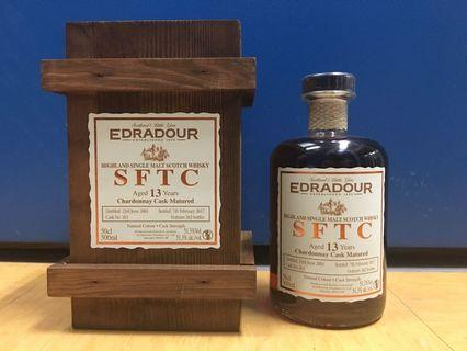 Edradour Straight From The Cask 13YO Chardonnay Cask Matured Whisky 500ml 51.3%