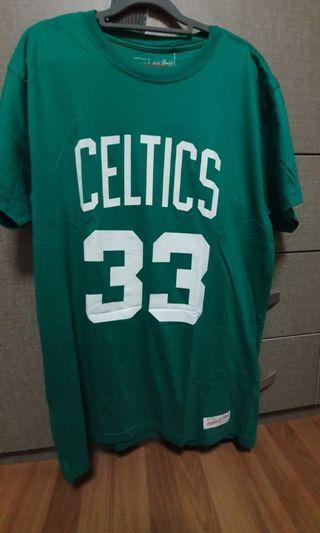 NBA BOSTON CELTICS LARRY BIRD 33 GREEN