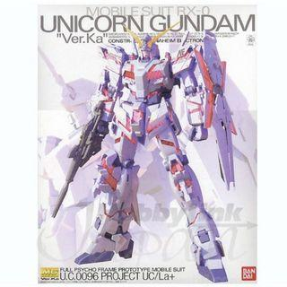 [MG] Limited Unicorn Gundam Ver. Ka with Free Decals and Stand
