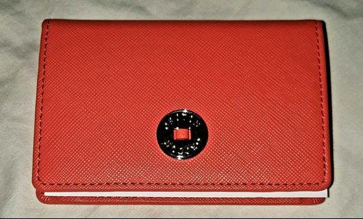 Oroton Business Card Holder Bright Orange RRP $125
