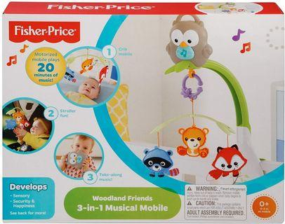 Fisher Price Musical Mobile Fisher-Price Woodland Friends 3-in-1 Musical Mobile