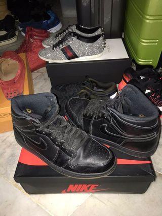 Nike Air Jordan 1 Retro High OG ~ Black Gum #GayaRaya