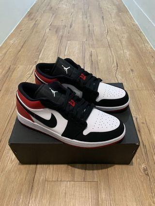 Nike Jordan 1 Low Black Toe 黑頭