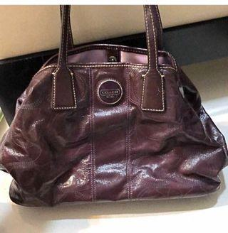 🚚 Coach purple leather bag